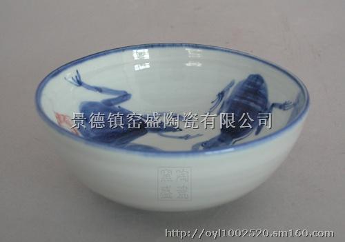 厂家生产销售 陶瓷碗 青花瓷碗 玲珑陶瓷餐具