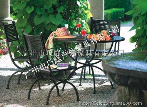 【广州欧式铁艺桌椅户外休闲桌椅阳台桌椅组合】庭院