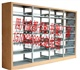 木护边书架书柜学校书架定做成都致远书架订购热线厂家