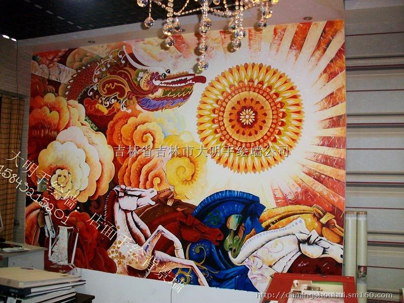 装潢设计,手绘墙,墙体彩绘,油画,装饰画,软装饰