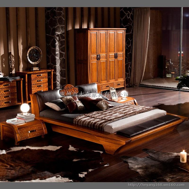 欧式实木床定制,欧式家具定制,别墅家具