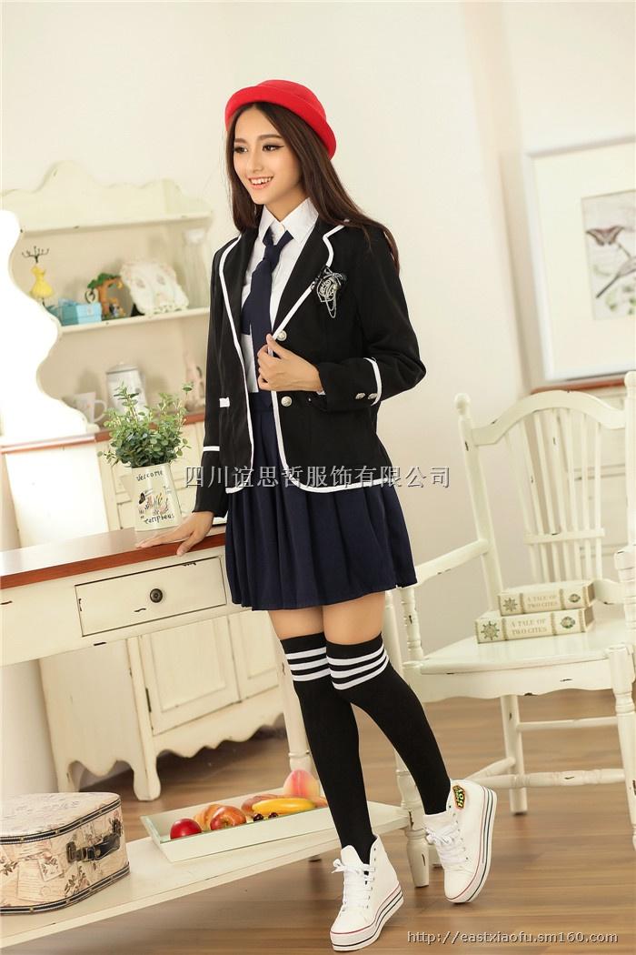 成都英伦风冬款校服,成都女生校服,成都校服设计