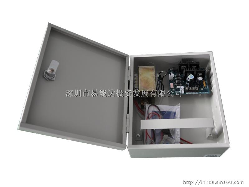 设自动保护功能,内置保险丝; 双路+18v输出; 带充放电电路,可配3个6v