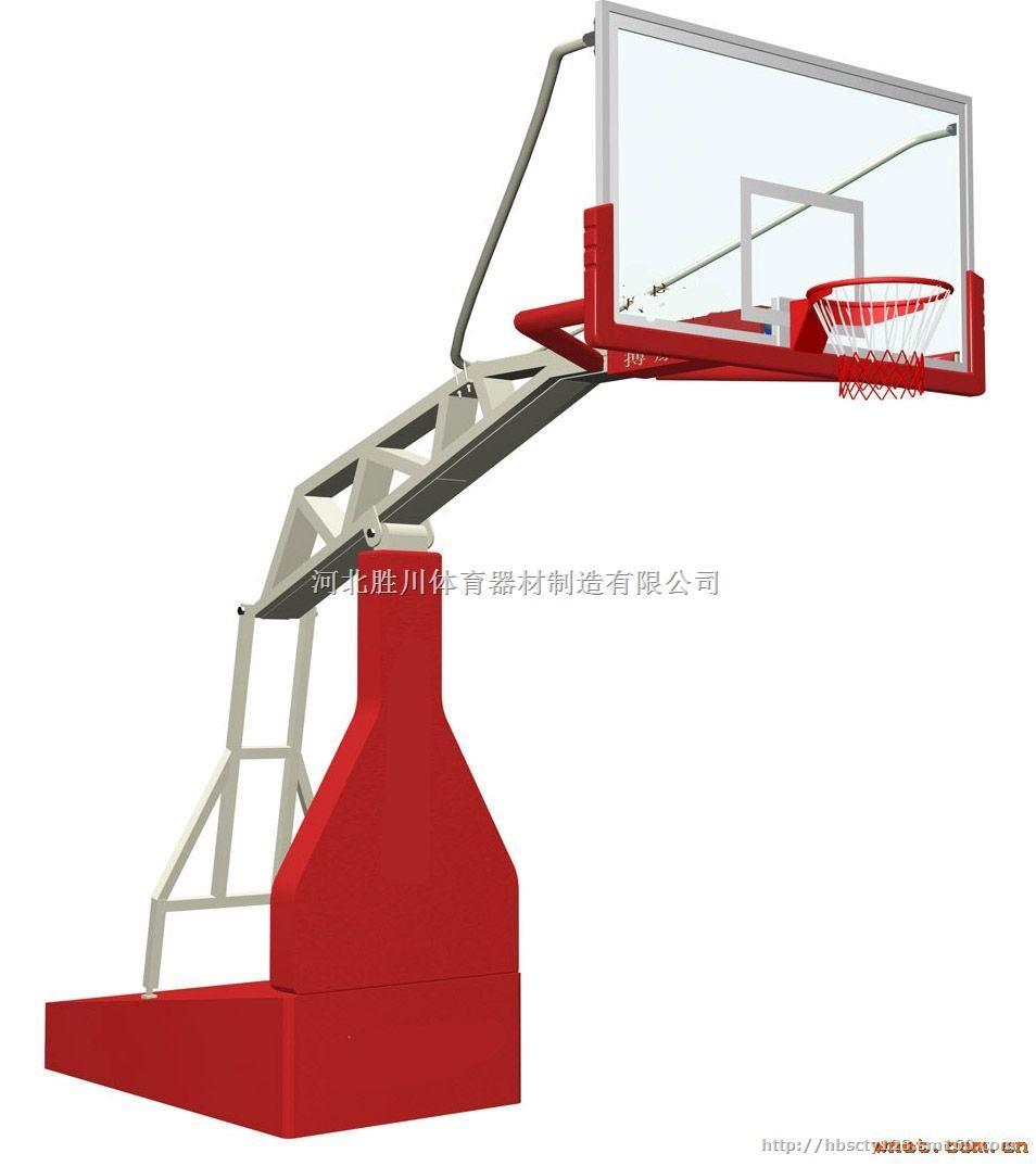 辽宁批发供应手动液压篮球架安装 配钢化玻璃篮板图片