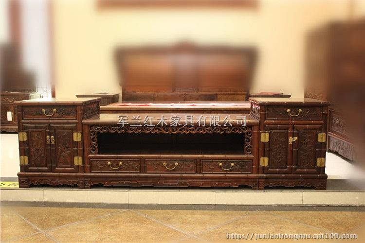 大红酸枝电视柜-红木家具-古典家具
