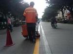 重庆道路热熔划线 市政道路专业划线 高速路热熔划线