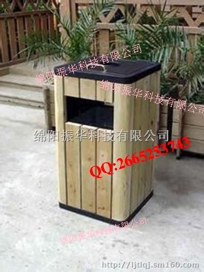 本款钢木垃圾桶采用复古典雅的