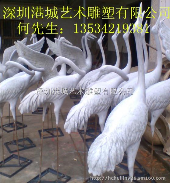 【深圳仿真动物雕塑 玻璃钢仙鹤雕塑厂家】其他批发