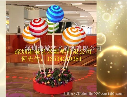 【开业兴典造型玻璃钢棒棒糖雕塑