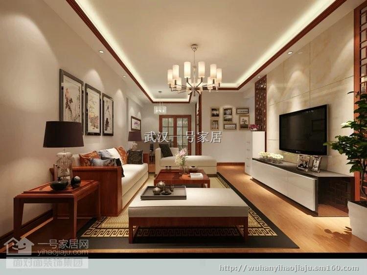 保利时代-110平现代中式三室两厅,大气庄重