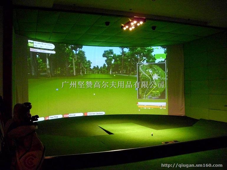 清远市室内高尔夫模拟器 家庭高尔夫设备 全自动回球系统