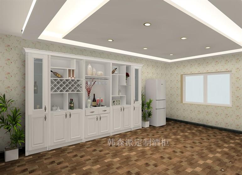 欧式酒柜效果图设计客厅欧式酒柜广州韩森派家具图片