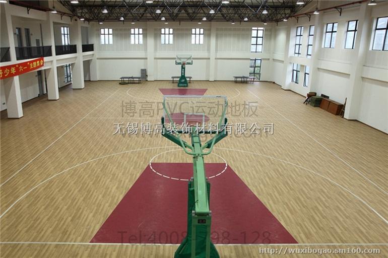 【室内篮球场木纹pvc运动地胶