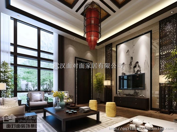 武汉家庭装修设计幸福人家别墅-新中式·传统风格