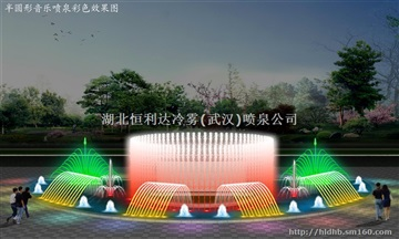 程控噴泉 武漢噴泉設計制作安裝 電腦武漢噴泉09年