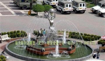 武汉雕塑喷泉公司 武汉恒利达专业喷泉雕塑设计施工