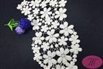 瑪域仕優質花朵水溶衣領領花 全棉刺繡水溶花邊批發