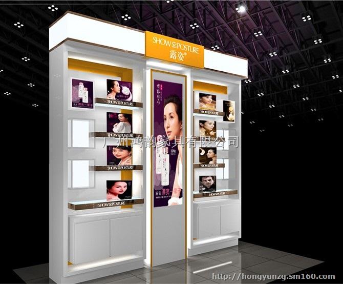 广州鸿韵展柜厂主营:美容店护扶品产品展示柜,护肤品形象展示陈列柜图片