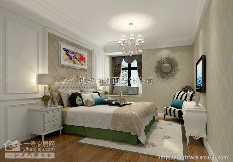 孝感市应城市武汉一号家居装修西湖广场90平现代欧式两室两厅