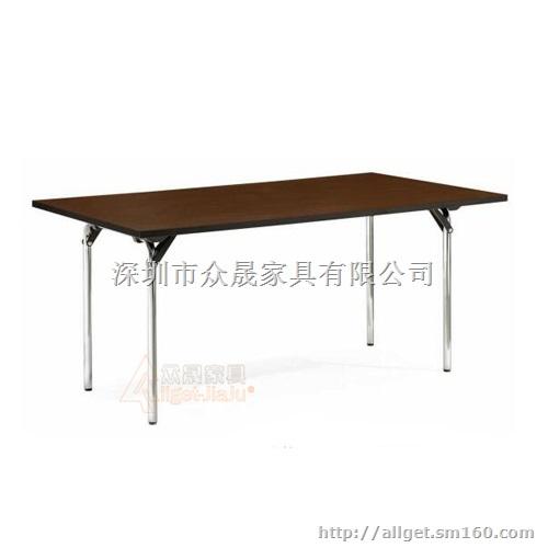 少即是多的设计理念充分体现在该折叠桌上,没有任何多余的部件,两根