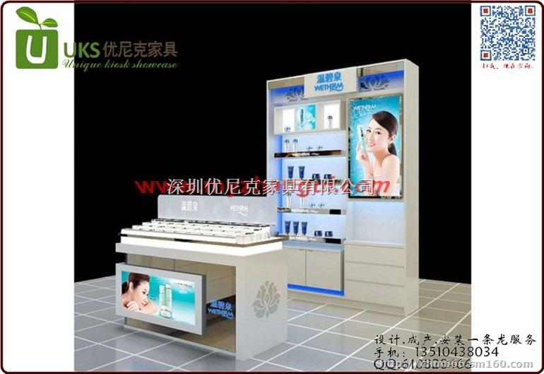 【2016横岗彩妆展示柜批发价格新款化妆品展柜图片】