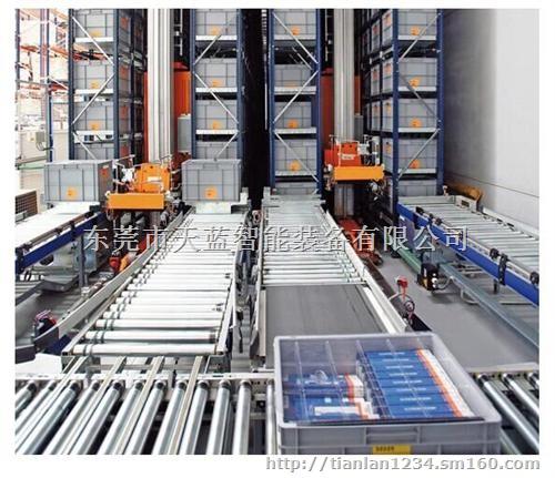 自动化立体仓库设计,立体智能仓 自定义分类:天蓝锂电池自动化设备