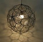 意大利设计时尚创意圆球餐桌灯卧室灯网球金属多边形钻