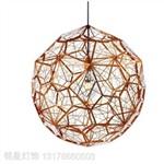 铭星灯饰简约现代创意个性餐厅吊灯不锈钢球钻石球吊灯