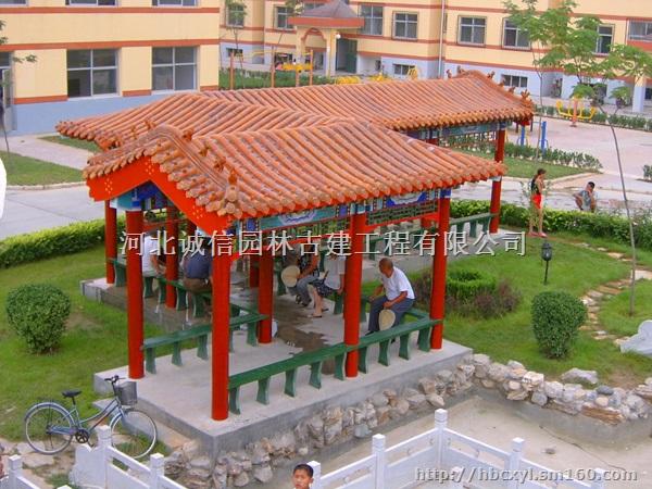 中国古建筑的平面以长方形为最普遍,一座长方形建筑,在平面上都有两种尺度,即它的宽与深。其中长边为宽,短边为深。如一栋三间北房,它的东西方向为宽,南北方向为深。单体建筑又是由最基本的单元间组成的。河北诚信园林古建工程有限公司是一家专业的大型音乐喷泉设计厂家,位于保定市唐县城西经济开发区。我厂的技术人员技术精湛,集设计、施工于一身的专业化园林绿化队伍。我们生产的假山喷泉、音乐喷泉、仿木栏杆、塑山等产品做工精湛,各类彩色喷泉价格合理,欢迎来我公司洽谈!