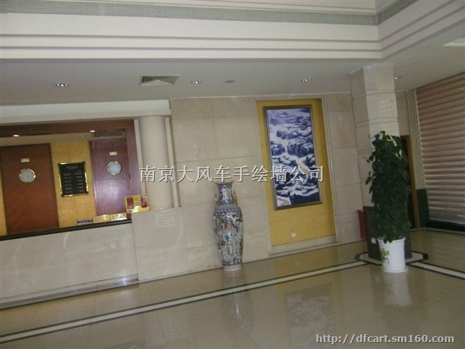 南京酒店壁画油画会所手绘墙画墙绘商铺上门画画