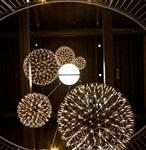 美陈布置商场中庭吊挂发光球酒店装饰圆球展厅吊饰厂