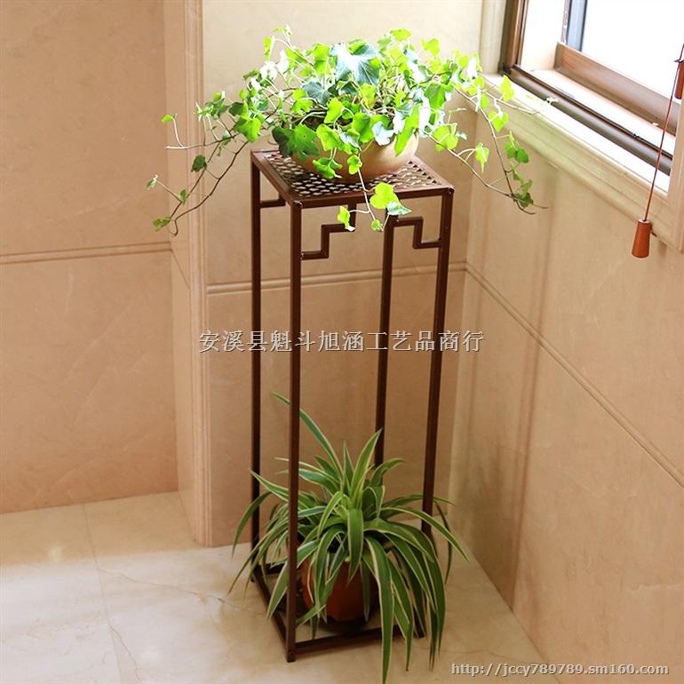欧式铁艺实木 多层室内阳台客厅 田园花架子 花盆架