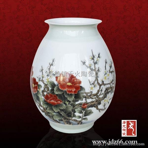 大师手绘陶瓷花瓶 省级大师瓷器 景德镇陶瓷花瓶生产
