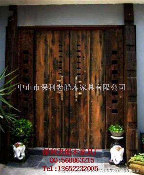 老船木家具屋门别墅大门进户门仿古门茶楼门实木房间门