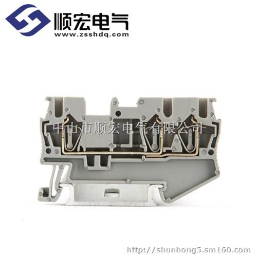 5 2.5mm2 双层接线端子 1012.017 d-jst2.5 端板(适用于jst1.5和jst2.