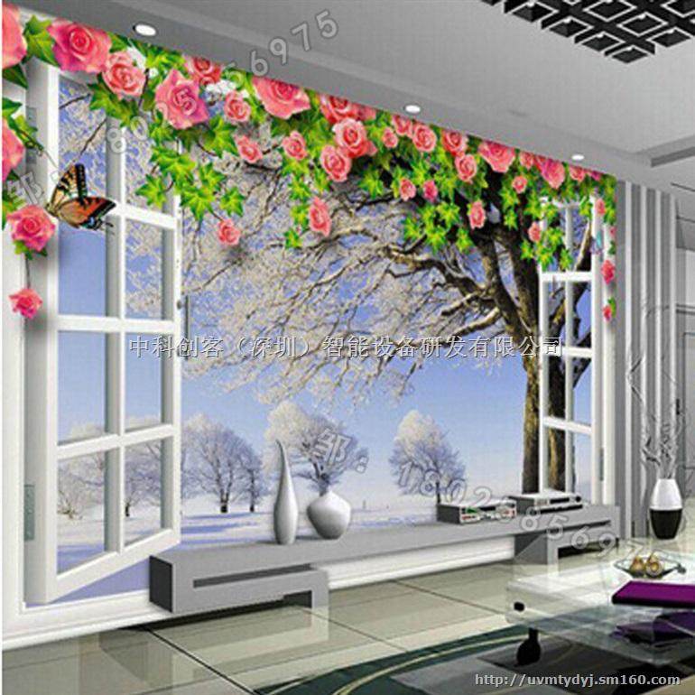 3d/5d瓷砖背景墙 玻璃背景墙万能平板打印机