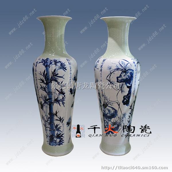 景德镇手绘陶瓷大花瓶批发价格手绘陶瓷花瓶图片