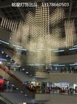 銘星燈飾商業地產新款LED光立方滿天星中庭吊飾工廠