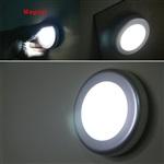 圆形超薄LED人体感应灯 红外线感应橱柜灯 感应衣