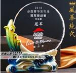 广州供应水晶孔雀陶瓷奖杯,老鹰、骏马水晶奖杯定制