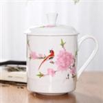 六盘水陶瓷广告杯定制设计18879867174高经