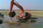 湘西-水上挖掘机出租-湿地挖掘机-船挖出租