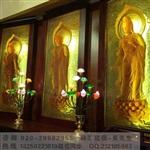 大件琉璃壁画 琉璃佛像佛砖屏风 广州琉璃佛像工厂
