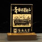 海南大学纪念品,医学院纪念品,内雕纪念品订制