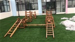 迷宫球幼儿园玩具厂,户外攀爬玩具,木质运动攀登架