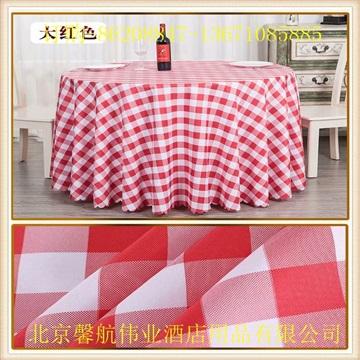 餐厅色织格子台布桌布加工定做厂家直销
