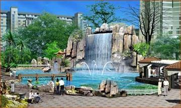 园林景观喷泉-长沙喷泉厂-长沙喷泉冷雾