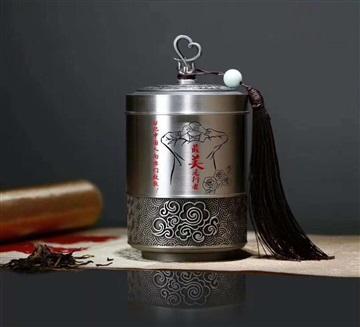 高檔茶葉罐紀念獎品 醫院抗疫紀念品定做 表彰禮品