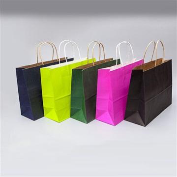 空白牛皮纸袋现货环保服装广告购物袋定做礼品包装手提