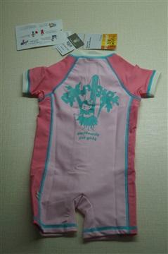潼熙新款兒童泳裝女童防UV紫外線連體尼龍錦綸泳衣